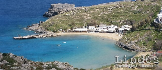 A View of Lindos Small Beach