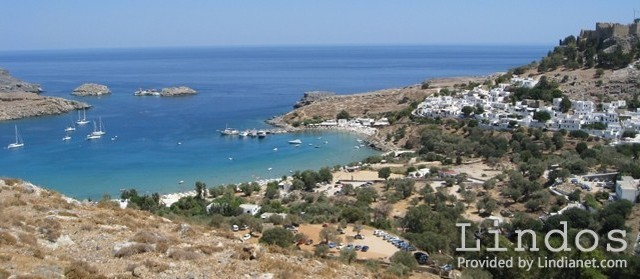 A View of Lindos Harbour