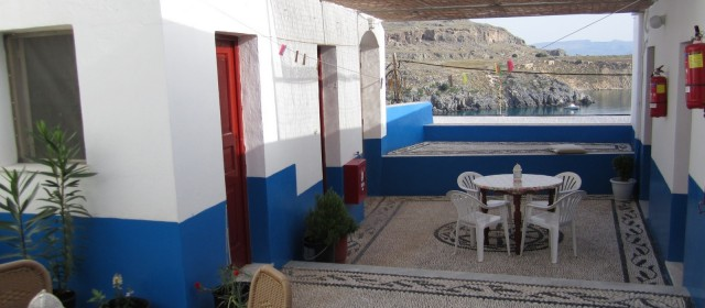 The Courtyard of the Villa Eugenia in Lindos