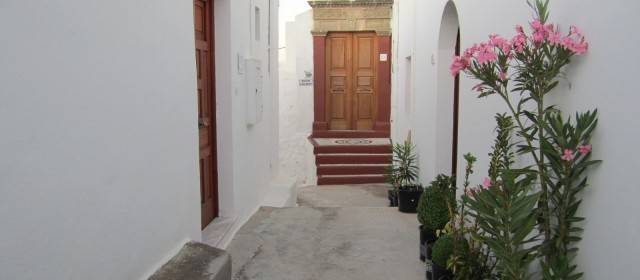 The Entrance of the Villa Eugenia in Lindos