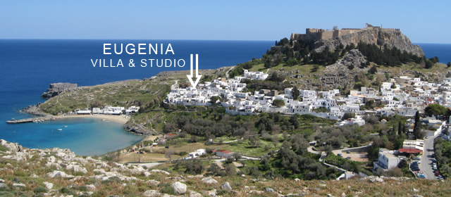 Eugenia villa & studio location on Lindos photo